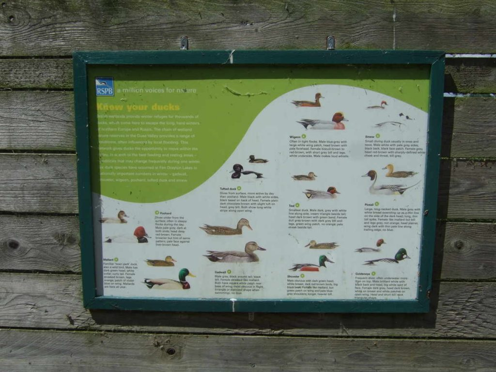 Fen Drayton Lakes: information board