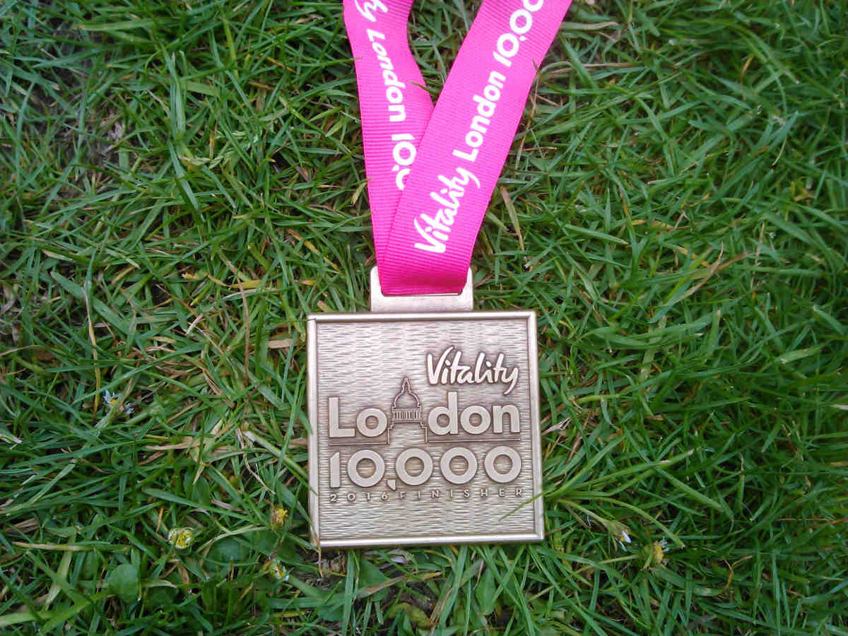 London 10,000 Finisher Medal