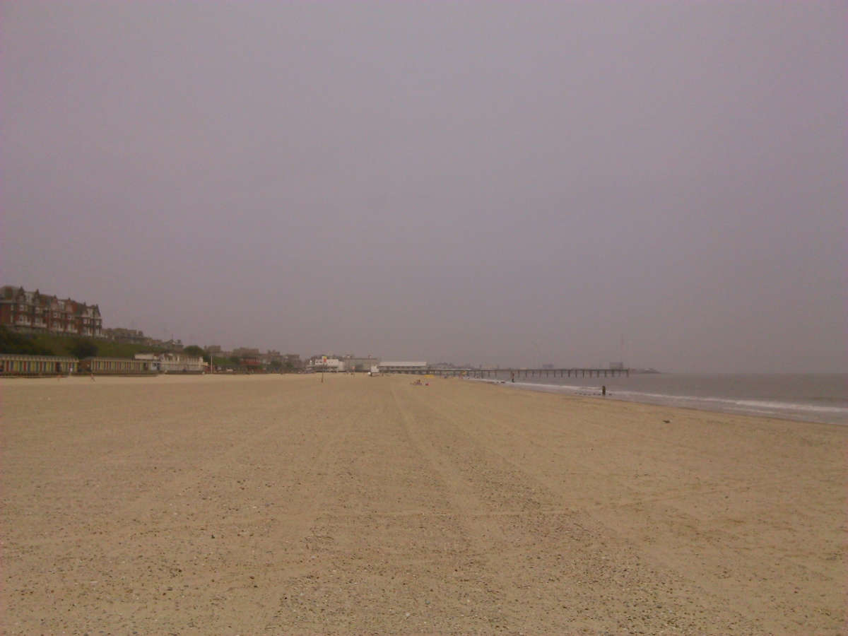 Lowestoft Beach on a cold day