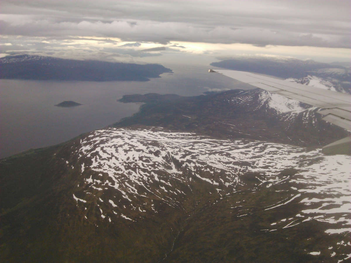 Tromso area from the airplane