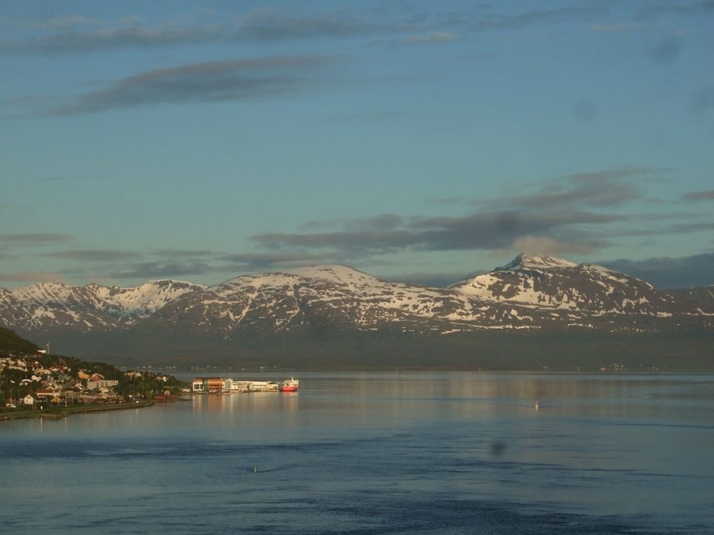 Midnight sun and the fjord