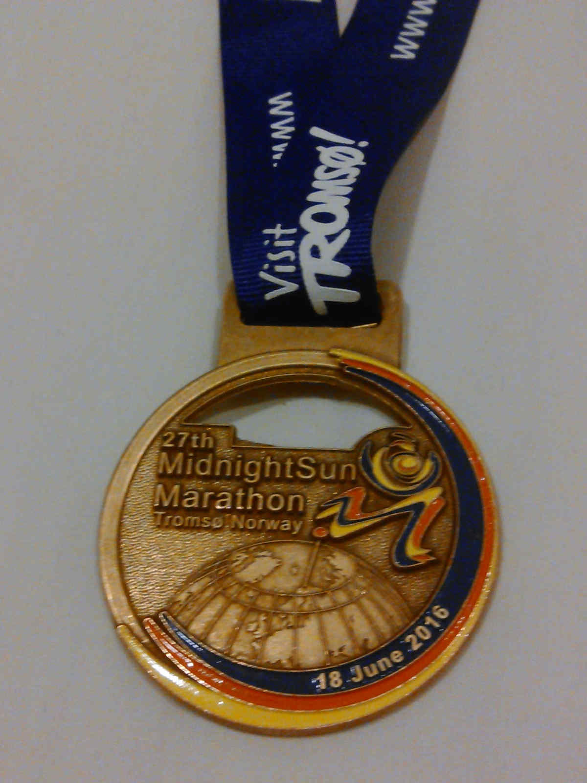 Midnight Sun Marathon finishers' medal