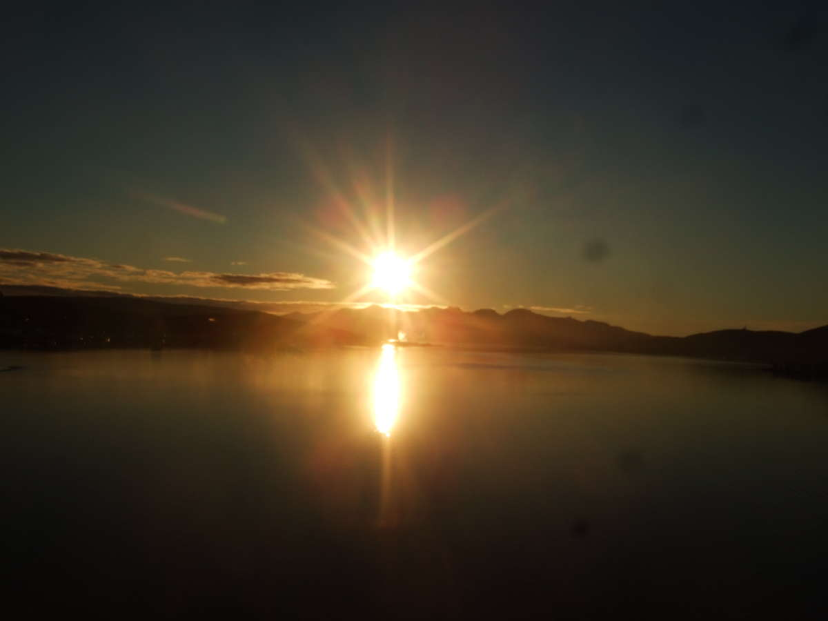 Midnight sun in Tromso