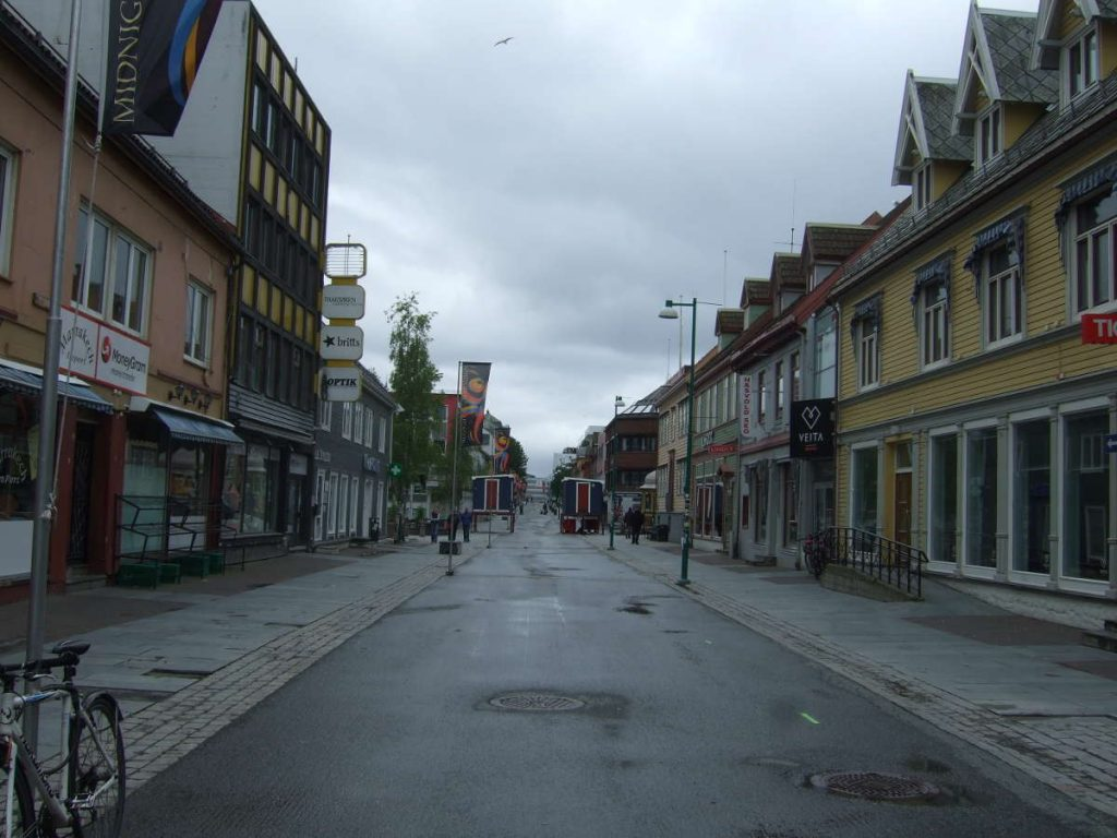 Tromso Storgata street - the finish area